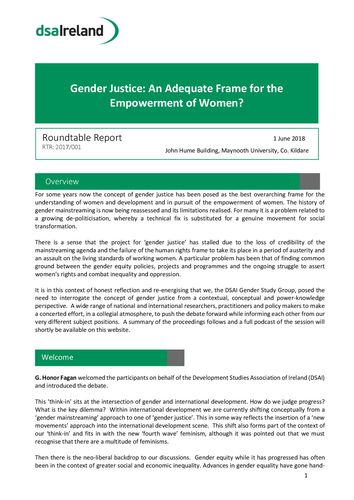 Publication cover - Gender Think In Report